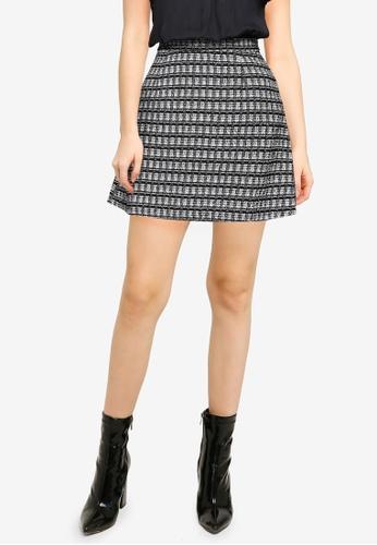 Vero Moda black Roya Boucle Short Skirt 15748AA49FAE26GS_1