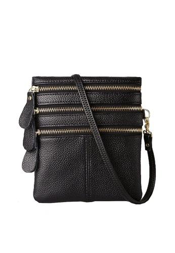 Twenty Eight Shoes black VANSA Pebbled Cow Leather Crossbody Bag VBW-Cb583 3EE5AACEE33C7EGS_1