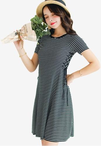 Shopsfashion black Lace Up Mini Dress CD515AA31E56EEGS_1