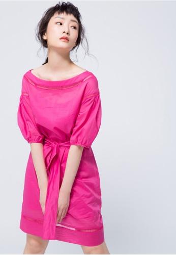 iROO pink Bold Pink Midi Dress E886FAAA7D7ECBGS_1