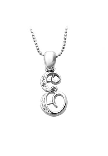 "The LoveMark silver Capital ""E"" Necklace TH516AC06XPTPH_1"