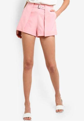 ZALORA 粉紅色 短褲 37360AAC743CF3GS_1