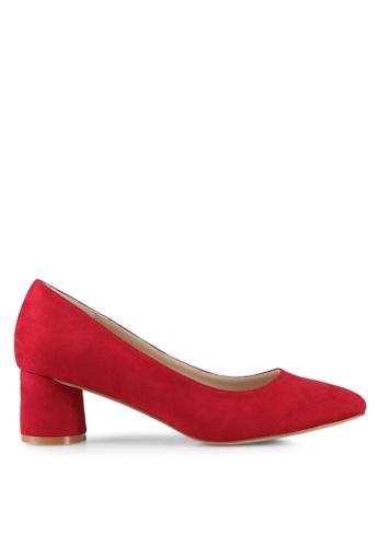 ZALORA red Round Chunky Low Heels 5CF4DSHC8C1731GS_1
