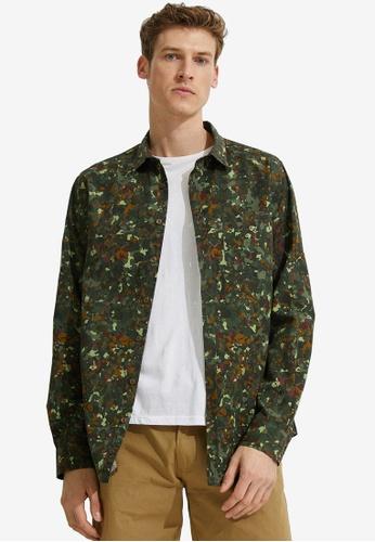 KOTON green Printed Shirt EAD93AA5BD1A49GS_1