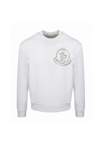 Moncler grey Moncler Logo Print Sweatshirt in Grey B7817AA222B2C5GS_1