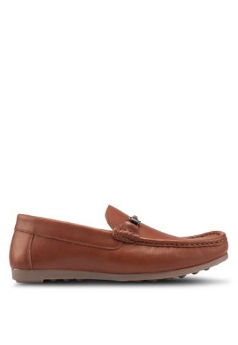 Carlton London brown Slip On Loafers 02EB9SH483BE19GS_1