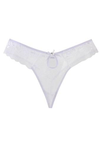 LAVABRA Intimates white Very Sexy Panty - Elena Peekaboo Diamond Sexy Lace Thong LA387US59SLSID_1
