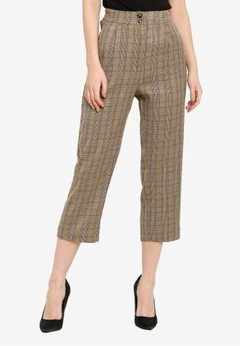 ZALORA WORK multi Straight Leg Crop Trousers D3742AACDCB583GS_1