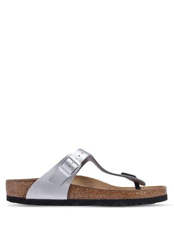 Birkenstock silver Gizeh Birko-Flor Sandals 5ABCDSH0FAA01FGS_1