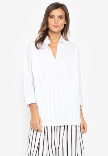 N Natori white Long Sleeves Blouse DA336AA992F42CGS_1