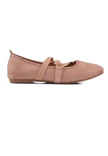 SHINE pink SHINE Multi Strap Square Toe  ballerinas 8CA6ESH28CE7A8GS_1