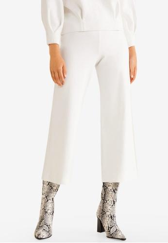Mango white Crop Knit Trousers 4A2E8AACF4BAF8GS_1