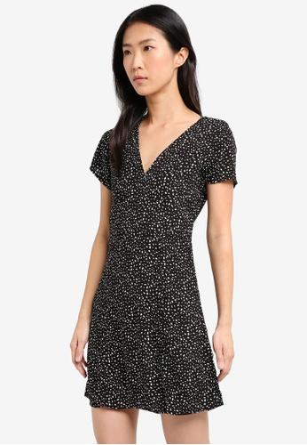 Supre black Nina V-Neck Dress 6F7D7AA787A424GS_1