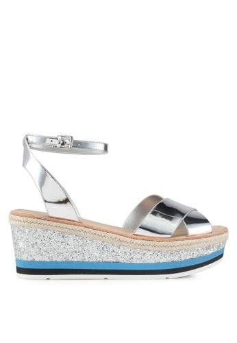 ALDO silver Asiella Wedge Sandals ED676SHBA9CBE2GS_1