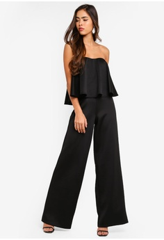 6121df58724 15% OFF MISSGUIDED Bandeau Frill Wide Leg Jumpsuit RM 119.00 NOW RM 100.90  Sizes 6 8 10 12 14