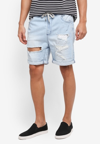 Factorie blue The Nu Denim Shorts 68AC9AA063BE6EGS_1