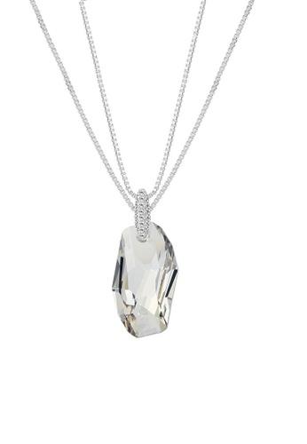 ADORA silver Swarovski Big Stone Pendent Necklace 8327FAC267E70BGS_1