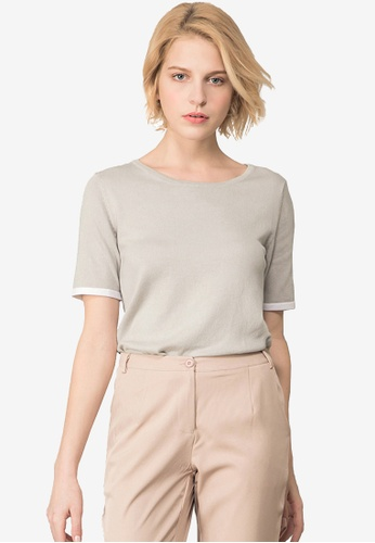 a4409e1b826c7 Buy Kodz Knit Blouse With Back Cut Out Detail Online on ZALORA Singapore