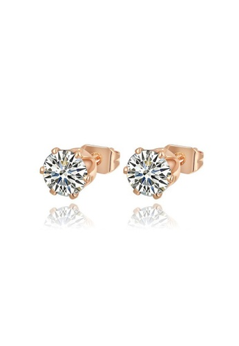 Kings Collection gold White Crystal Earrings 8D67CAC939E809GS_1
