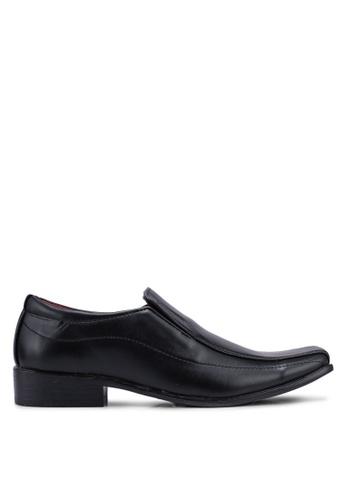 Rocklander 黑色 質感懶人皮鞋 5EDE8SH9EA6012GS_1