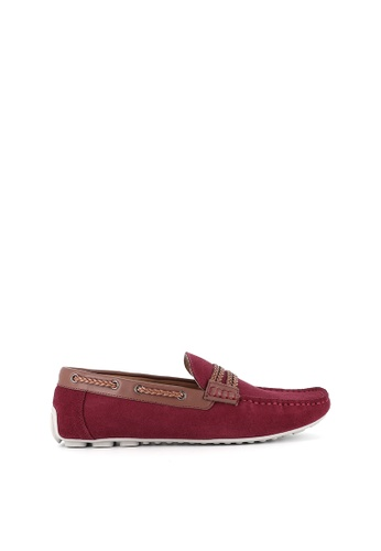 SEMBONIA red SEMBONIA Men Microfiber Loafer (Maroon) 2FF50SH7B90E47GS_1