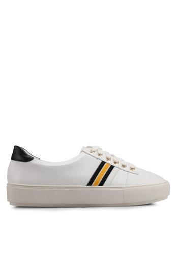 VINCCI white Faux Leather Sneakers E20ABSH53C77B6GS_1