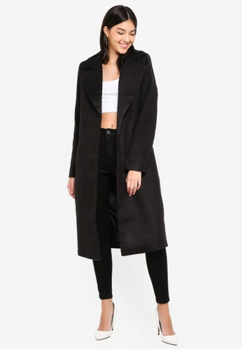 MISSGUIDED black Edge To Edge Formal Coat 4C42FAA4667175GS_1