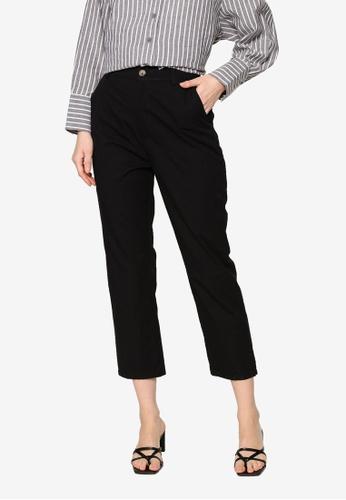 ZALIA BASICS black Tapered Pants D9C9AAA500E95FGS_1