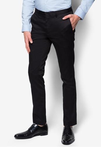 Topman black Black Ultra Skinny Fit Trousers TO413AA87RAMMY_1
