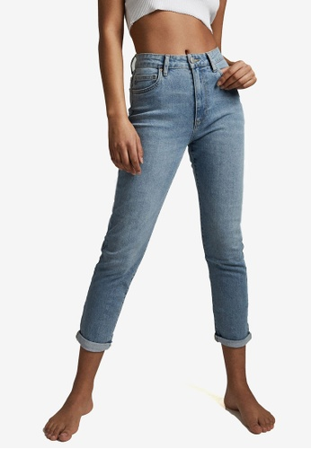 Cotton On blue Stretch Mom Jeans 73C52AA15340C7GS_1