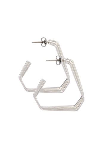 niko and ... silver Geometric Earrings 99D45AC258B02BGS_1