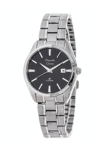 Alexandre Christie silver Alexandre Christie Jam Tangan Wanita - Silver Black - Stainless Steel - 8515 LDBSSBA 90CDDAC136D5F6GS_1