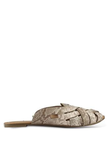 Rubi 粉紅色 蛇紋穆勒鞋 D6DAFSHF134DCBGS_1