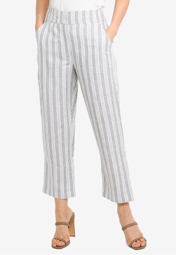Forever New navy Anna Linen Blend Pants C054BAA21E1995GS_1