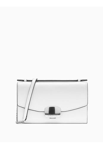Calvin Klein white Buckle Clutch With Chain 3B6AEAC60A920FGS_1