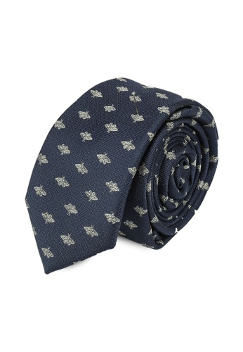MANGO Man blue Insects Print Tie 9AF17AC7917375GS_1