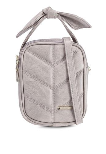 Verchini beige Mini Sling Bag With Bow 4E11FACE8AAB4EGS_1