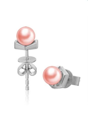 LYCKA pink LFF5225-LYCKA-S925 Siliver Pink Fresh Water Pearl Pink Freshwater Pearl Earrings-Pink B2EDEAC783F1D7GS_1