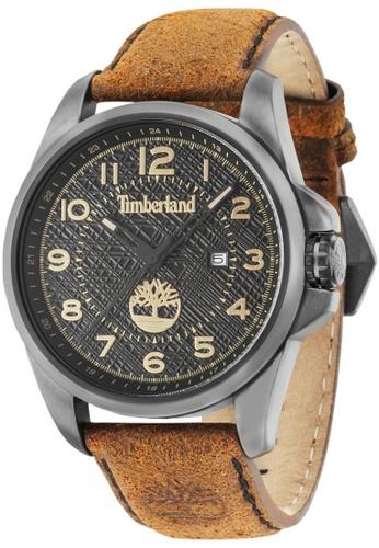 Timberland brown Leyden TBL.14768JSU/02 Brown Leather Strap Men Watch TI063AC23TTSMY_1