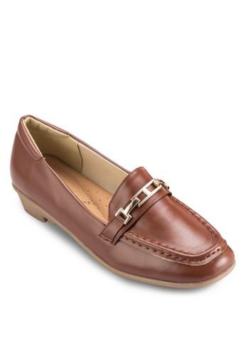 鏈扣zalora 衣服尺寸飾方形鞋頭樂福鞋, 女鞋, 船型鞋
