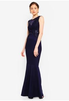 c026ad01 Lipsy blue Blue Applique Maxi Dress 1E404AA6D0944AGS_1
