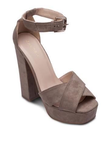 扣環踝帶厚zalora時尚購物網的koumi koumi底粗跟鞋, 女鞋, 鞋