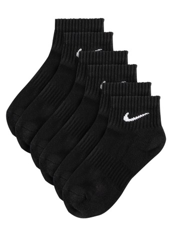 Nike black Unisex Everyday Cushioned Training Ankle Socks (3 Pairs) A1863AC48CA5D7GS_1
