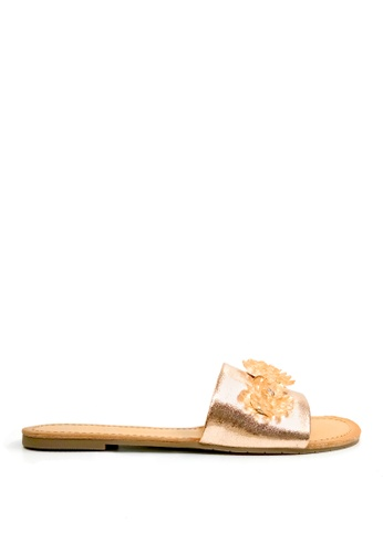 Kenneth Cole New York gold JUST ENOUGH - Slide Sandal FC907SHE730A02GS_1