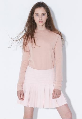 wnderkammer pink Tuckde Miniskirt WN055AA62OFLSG_1