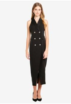 0f89b17630 Dressing Paula Wrap-Effect Cady Tuxedo Dress RM 239.90. Sizes XS S M XL
