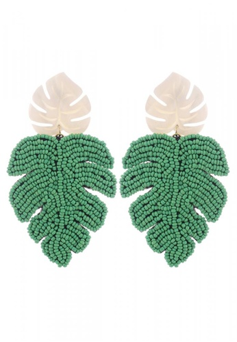 Style Cat white and green Style Cat Cancun Leaf Earrings CBDE6AC1EB6687GS_1