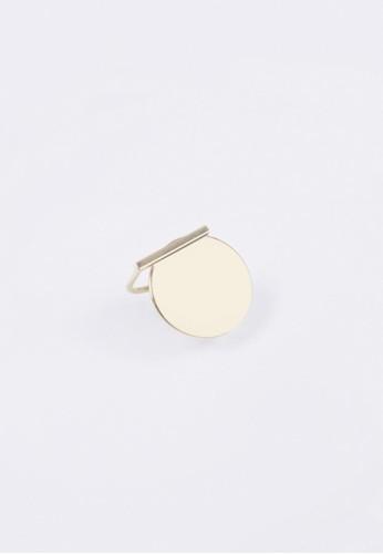 金屬長條圓片戒指, 飾esprit地址品配件, 戒指