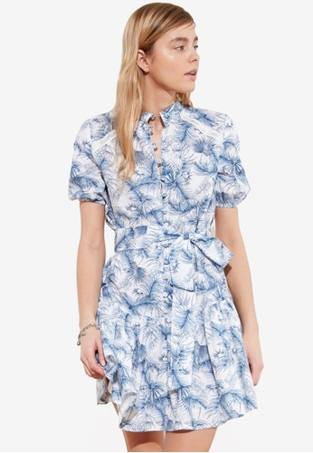 Trendyol multi Printed Button Down Tie Waist Dress 92209AA1AFF53BGS_1