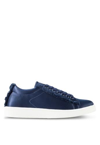 ZALORA navy Sneakers With Fraying Detail 655B7SH9C98C1DGS_1